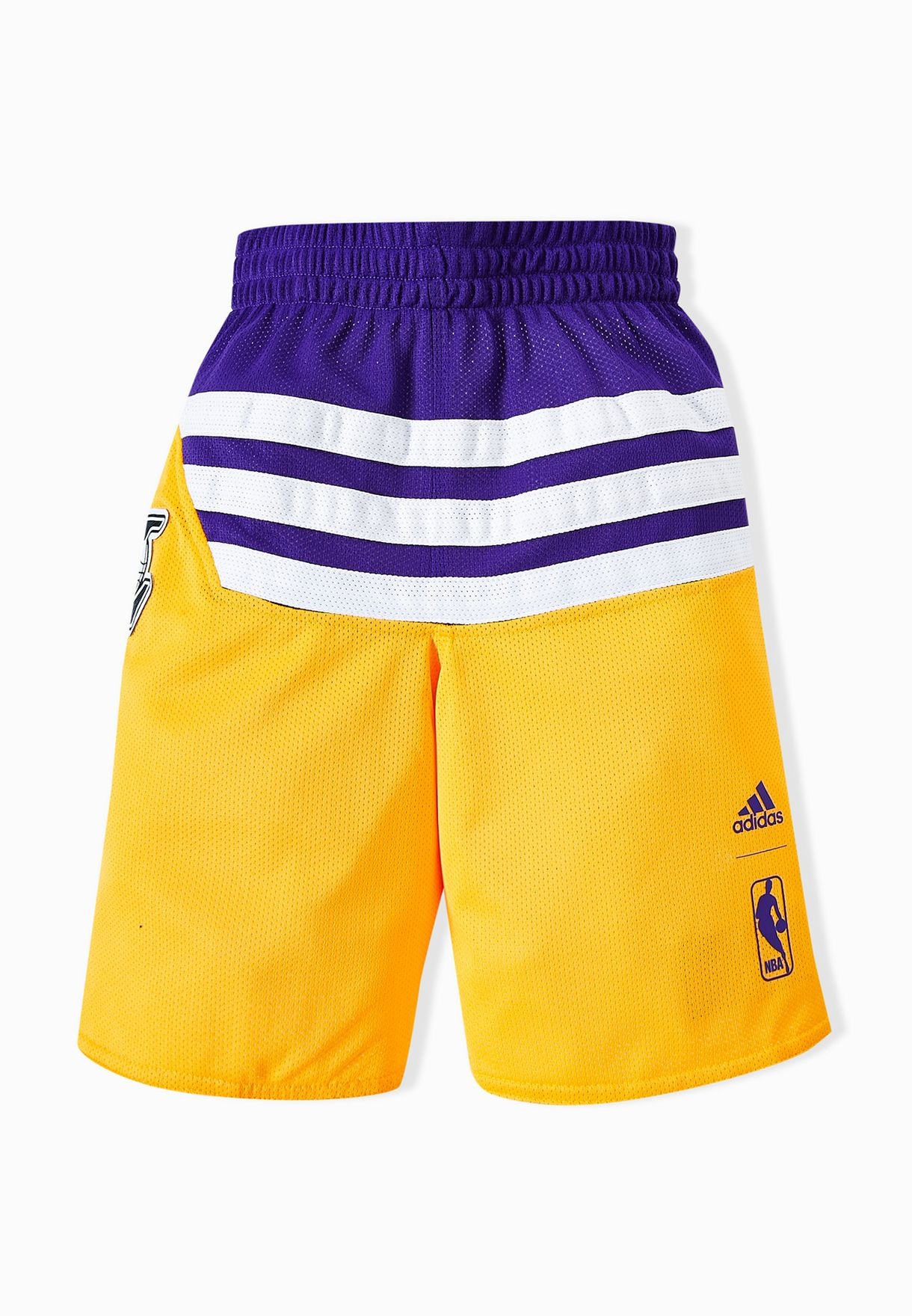 5ccc92cd Shop adidas multicolor Youth Reversible LA Lakers Shorts AJ1989 for ...