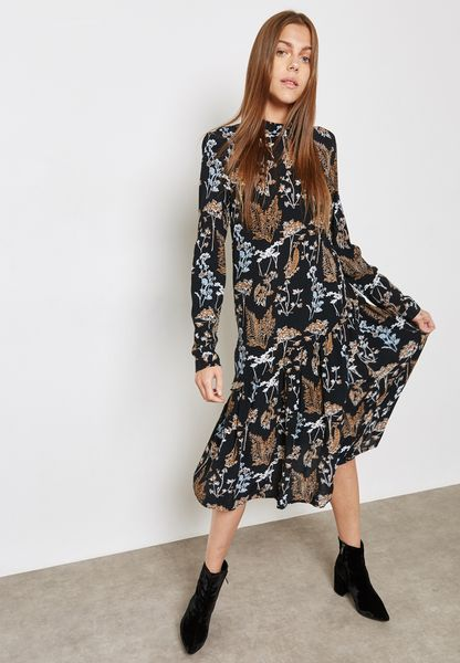 Ray Printed Dress