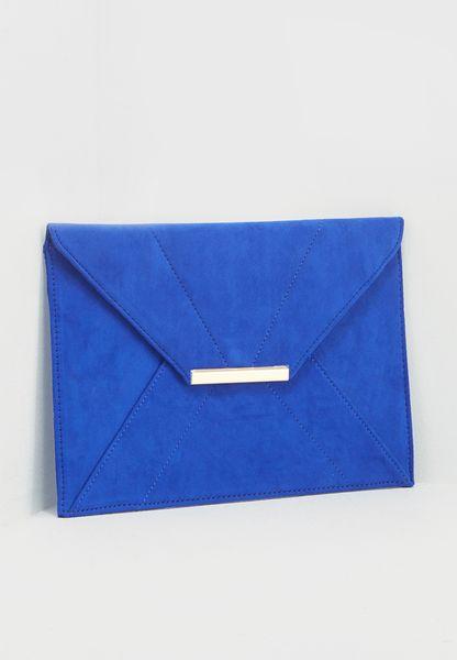 Cobalt Envelope Clutch Bag