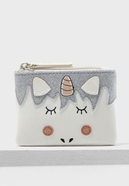 Cedric Baby Unicorn Zip Top Purse