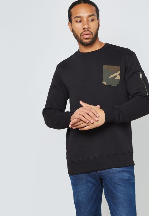 Camo Pocket Sweatshirt