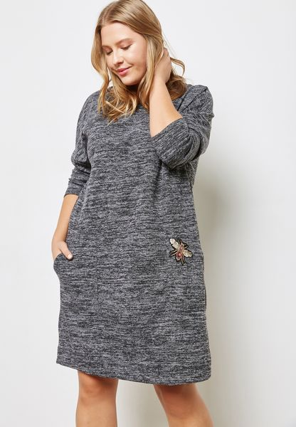 Textured Patched Dress