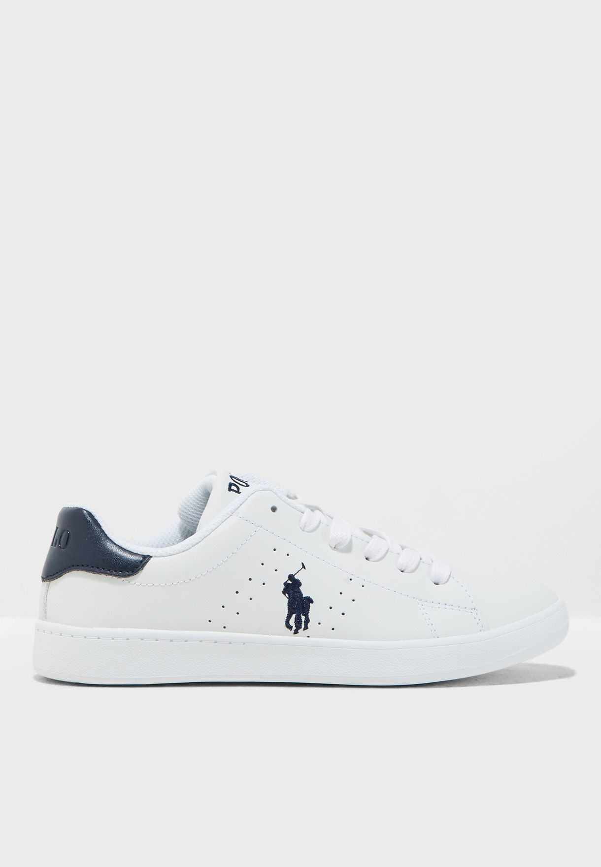 a33a3b7bb4221 Shop Polo Ralph Lauren white Youth Quilton Sneaker RF101196 for Kids ...