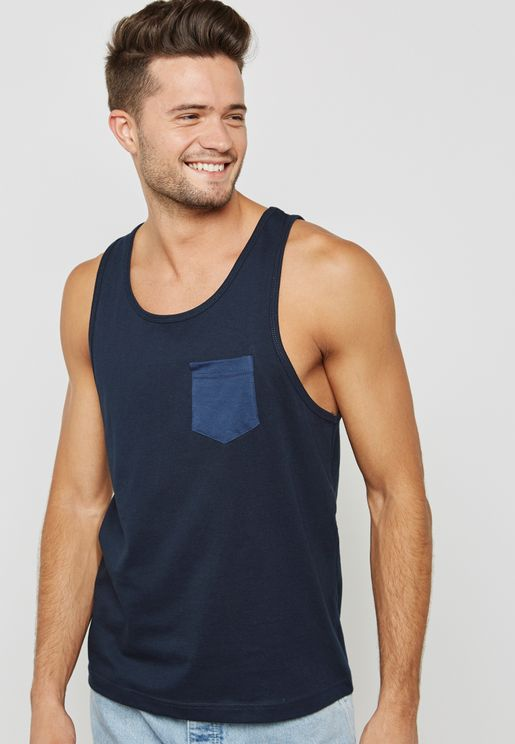 Contrast Pocket Detail Vest
