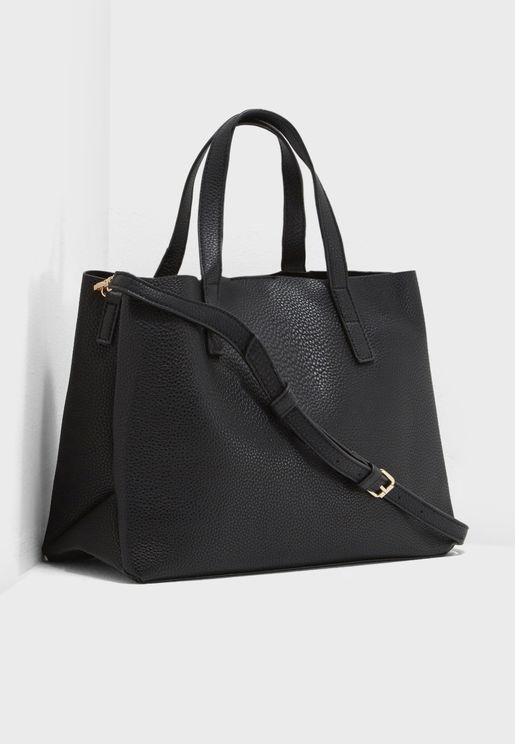 Sil Pebbled Tote Bag