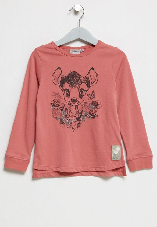 Little Bambi and Roses T-Shirt