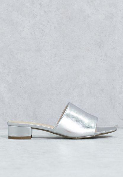 Mule Block Heel Sandal