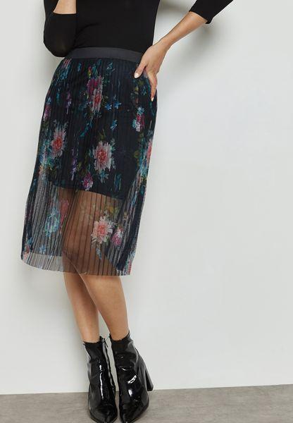 Sheer Embroidered Skirt