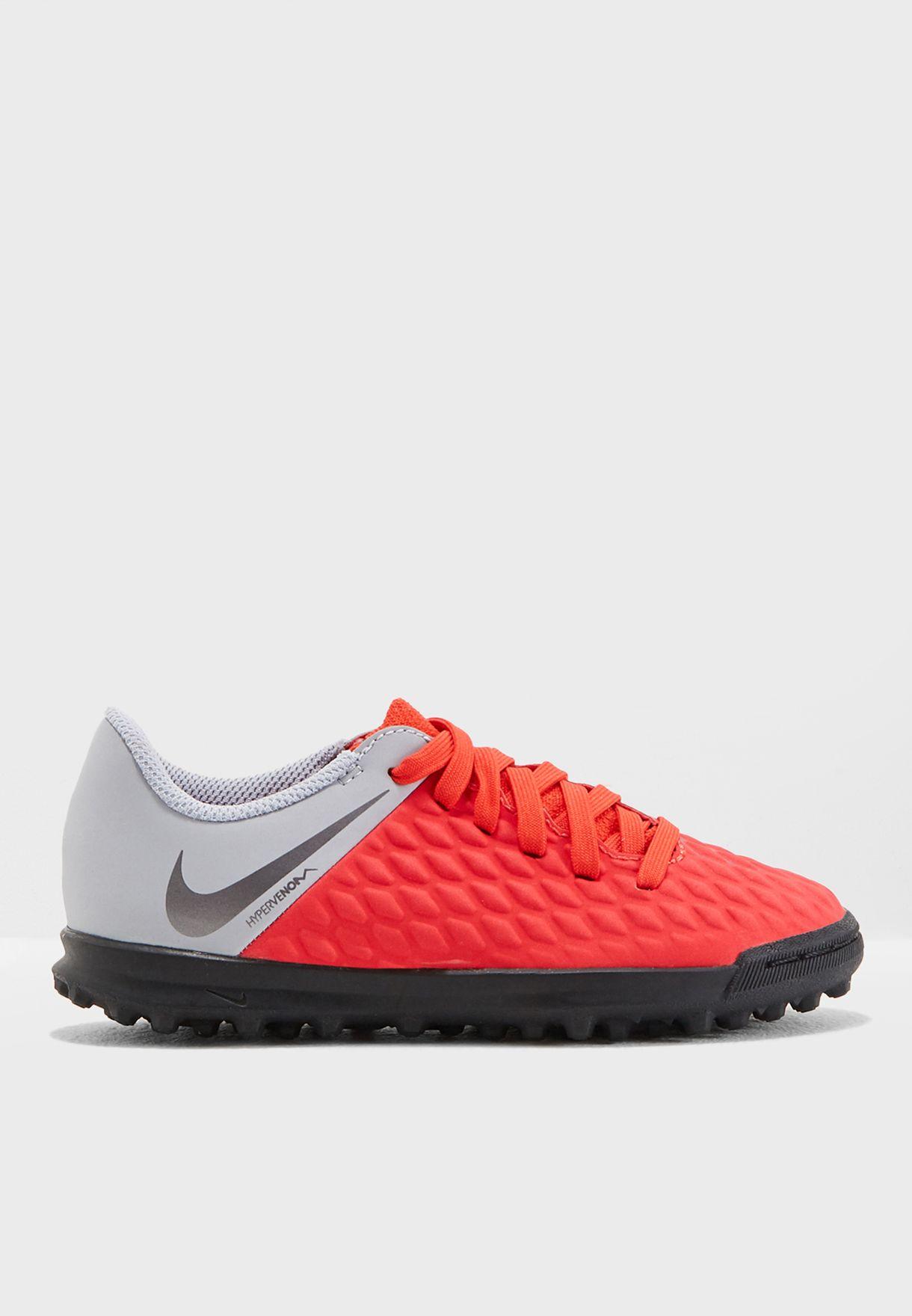 1c0bceec2 Shop Nike multicolor Youth Hypervenom Phantomx 3 Club TF AJ3790-600 ...