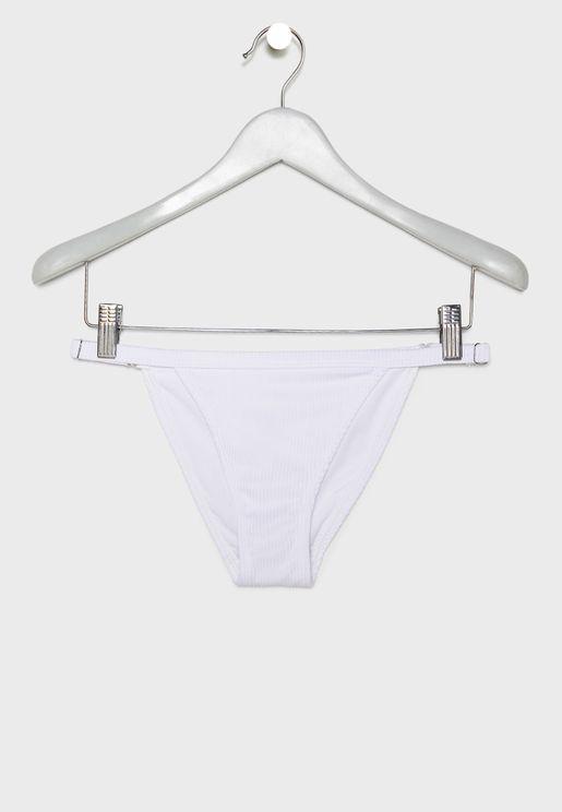 Ribbed Tanga Bikini Bottom