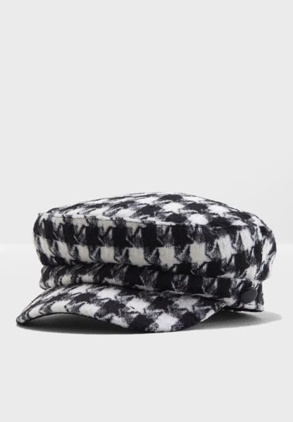 Checked Cabby Hat