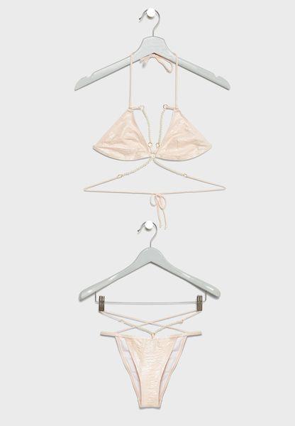 Pearl Harness Bikini Set