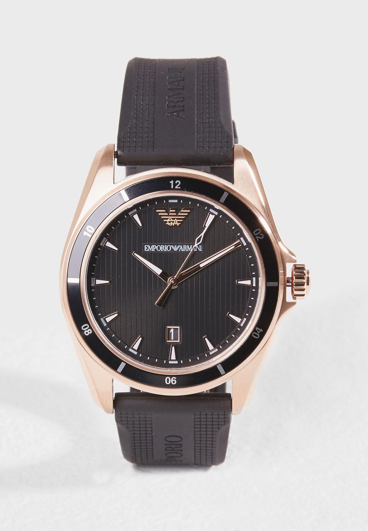 2f4802d12 تسوق ساعة انالوج ماركة امبريو ارماني لون أسود AR11101 في عمان ...