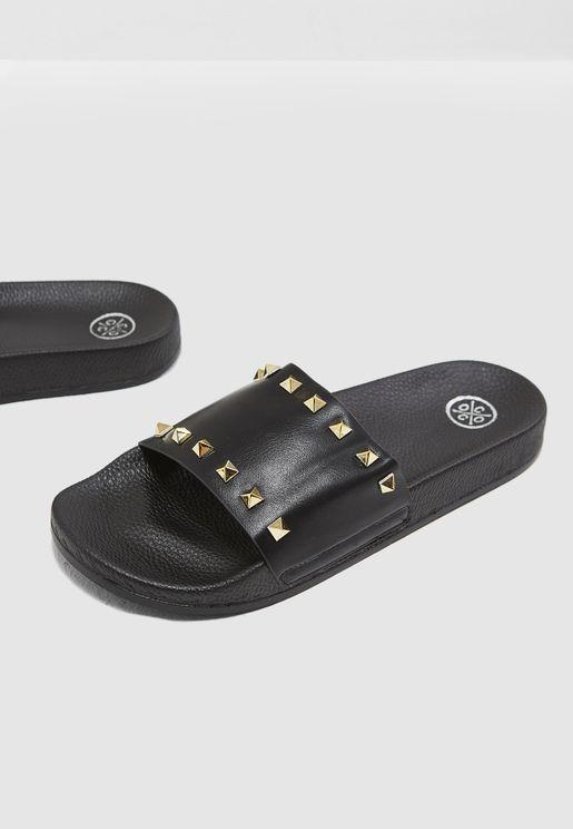 Amber Studded Slides