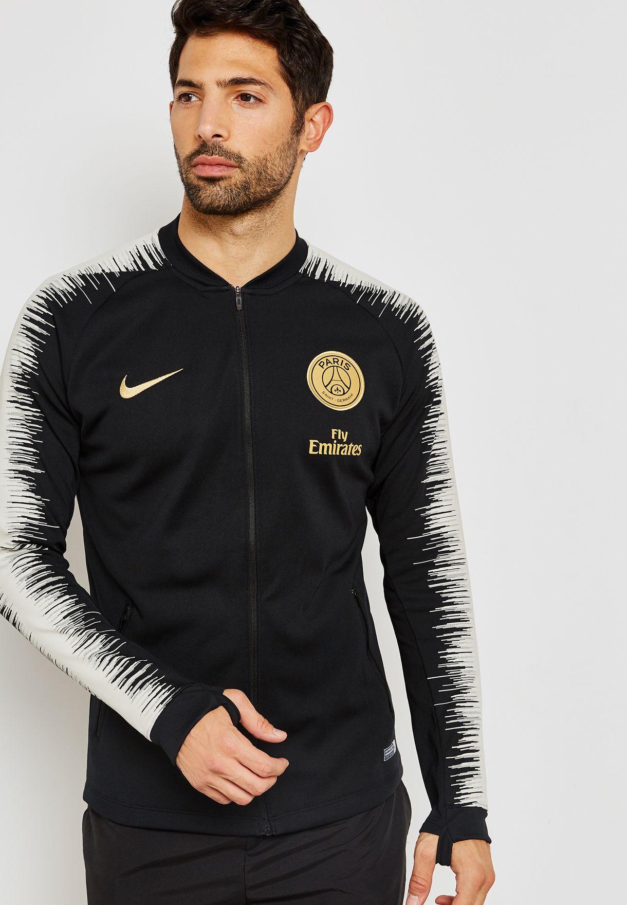 Nike Paris Saint Germain Squad Jacket Winter Hooded Padded Parka 920154-010