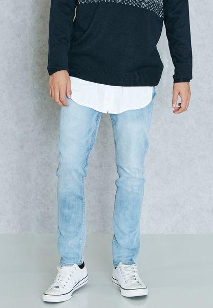 Lunar Slim Fit Mid Wash Jeans