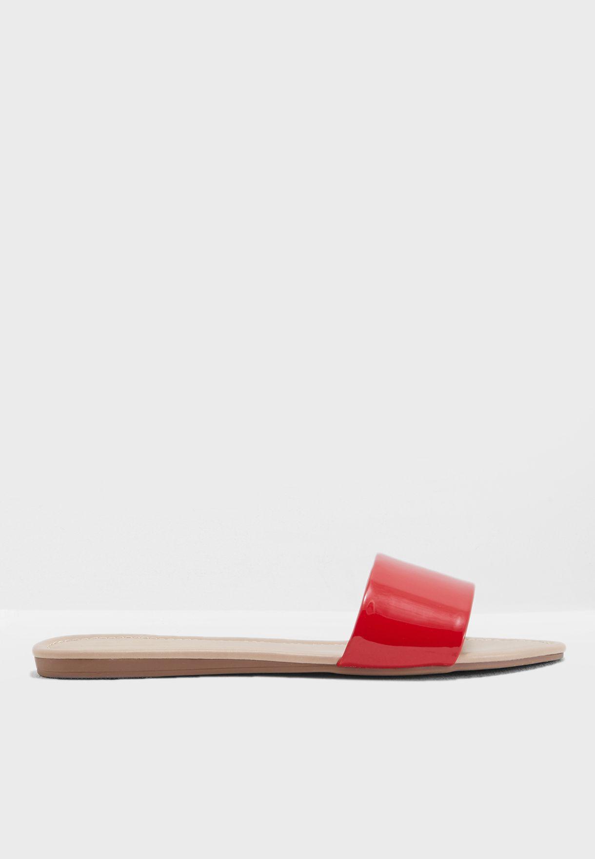 Shop Aldo red Keiclya Flat Sandal KEICLYA62 for Women in UAE ...