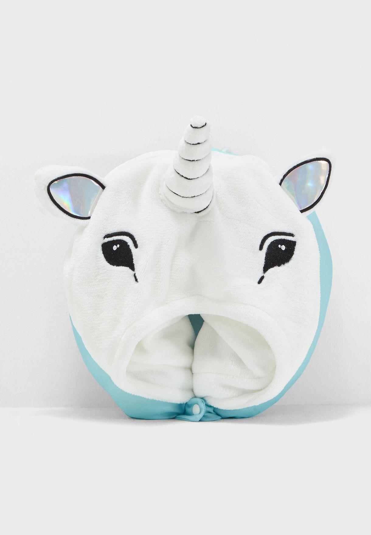 مخدة سفر عشكل وحيد القرن