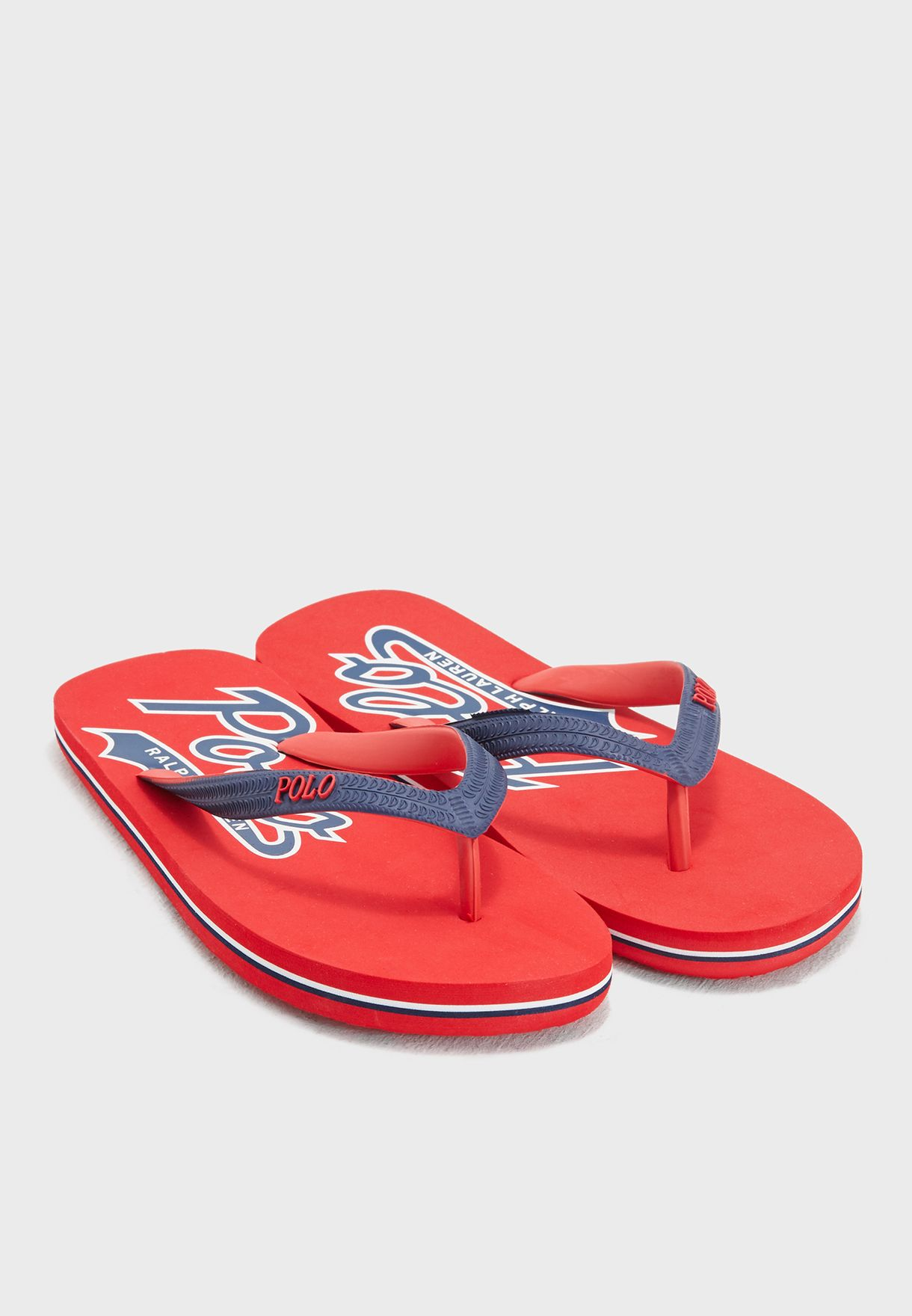 83dd3f167881 Shop Polo Ralph Lauren red Whitlebury II Casual Flip Flops ...