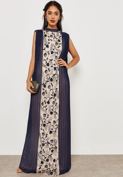Column Pleated Dress