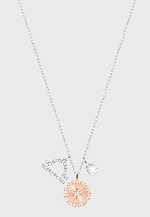 Zodiac Pendant, Libra, White Necklace