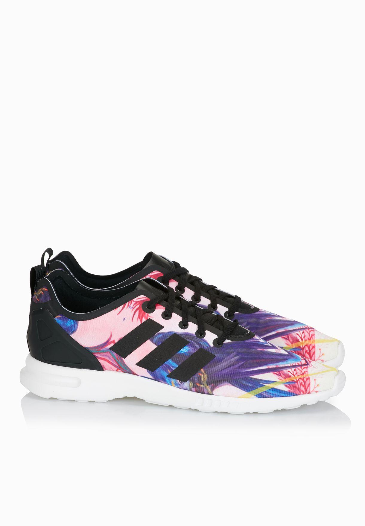 63de6fae74775 Shop adidas Originals multicolor ZX Flux Smooth Sneakers S82937 for ...