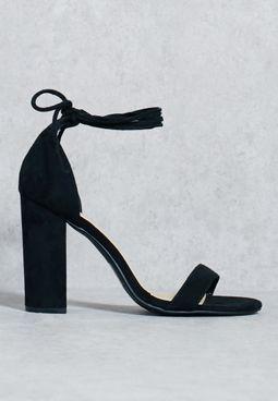 Classic Block Heel Tie Up