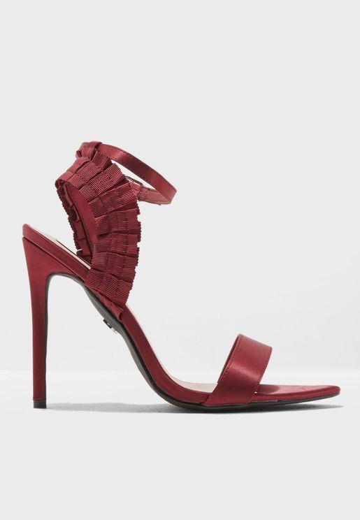 Betty Pleated Heeled Sandal