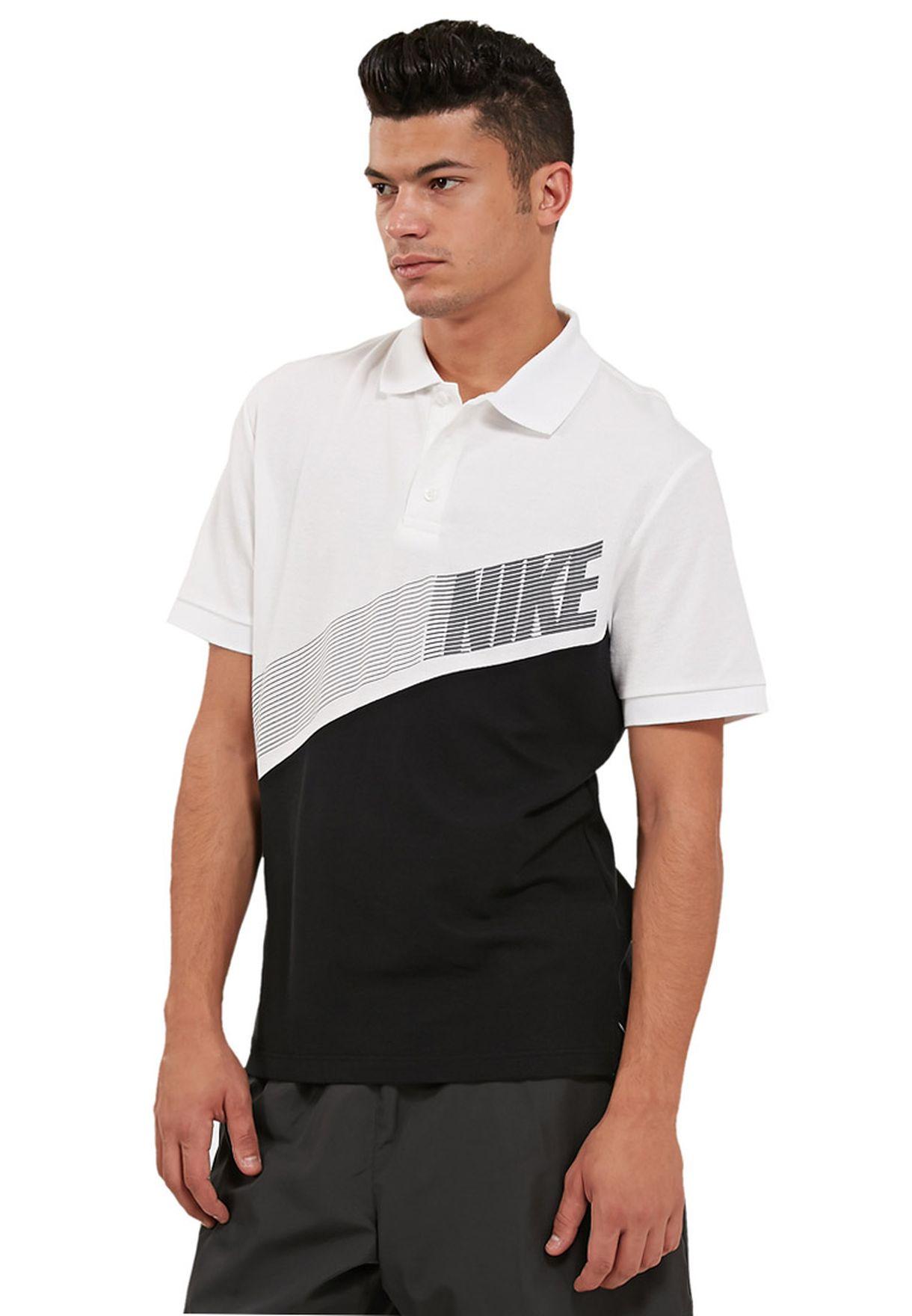 ac7346680 Shop Nike white Matchup Polo Shirt NKAP584845-101 for Men in UAE ...
