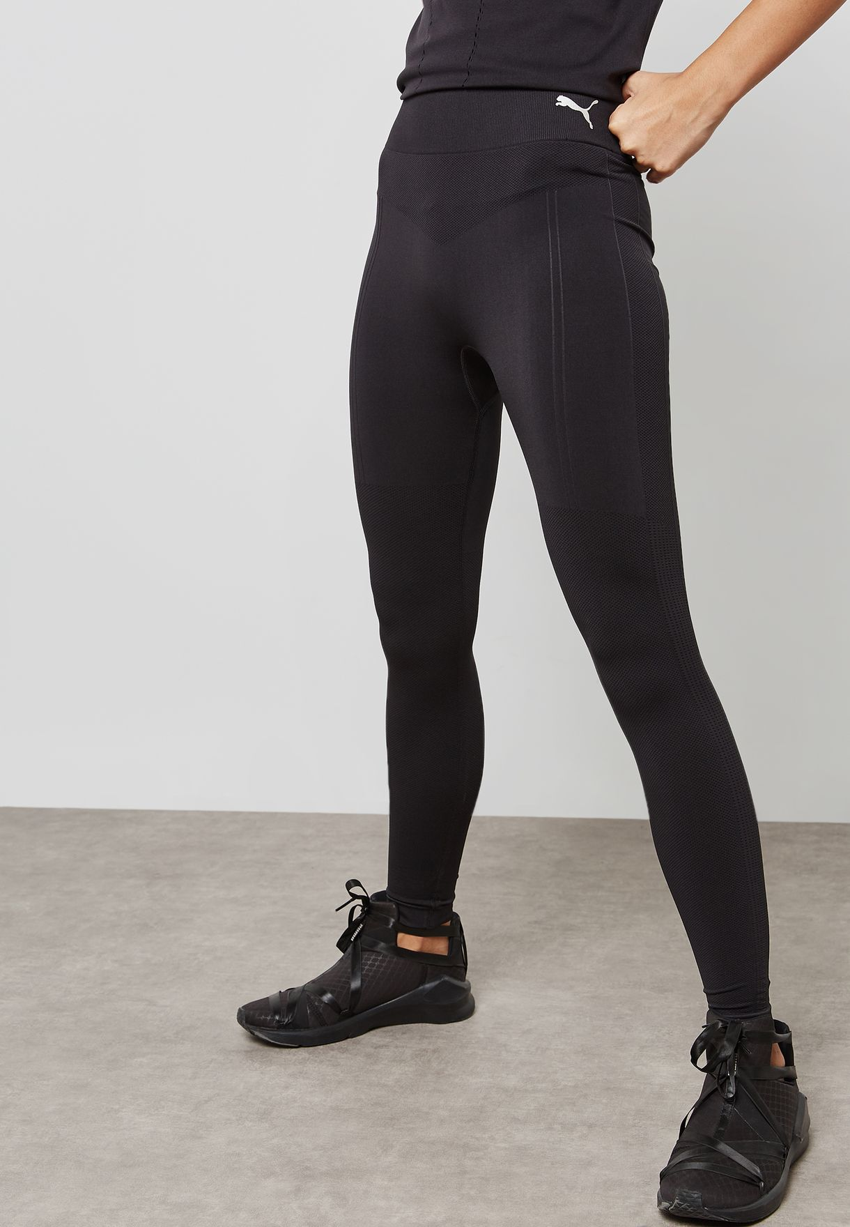 9e33582987a553 Shop PUMA black evoKNIT Seamless Leggings 59506101 for Women in UAE ...