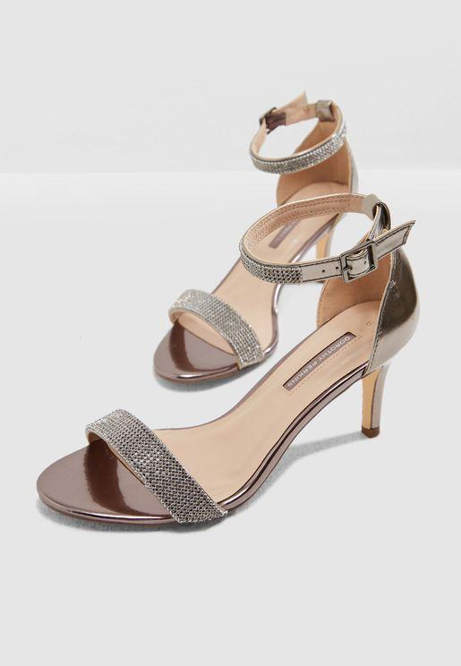 Bling Heeled Sandal