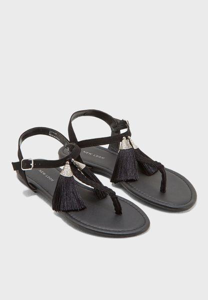 Tassle Flat Sandals