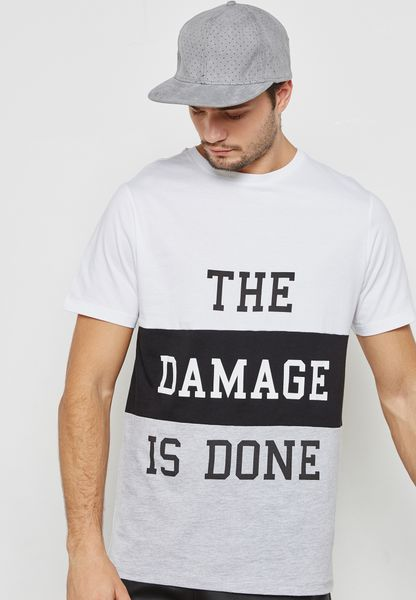 The Damage Is Done Panel T-Shirt