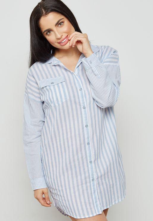 Striped Pyjama Nightdress