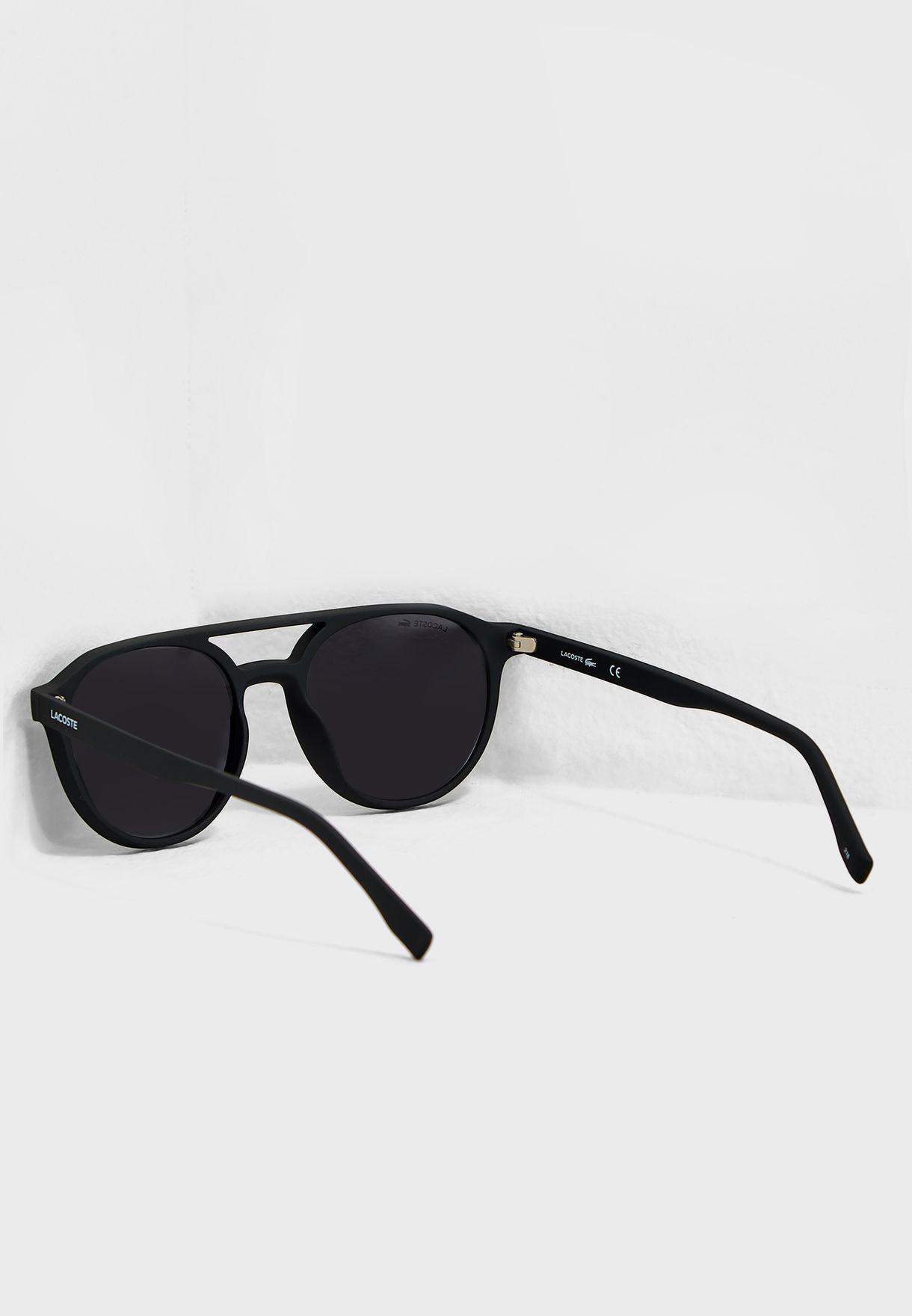 6df18b5cdc53 Shop Lacoste black Round Sunglasses L881S-001 for Men in UAE ...