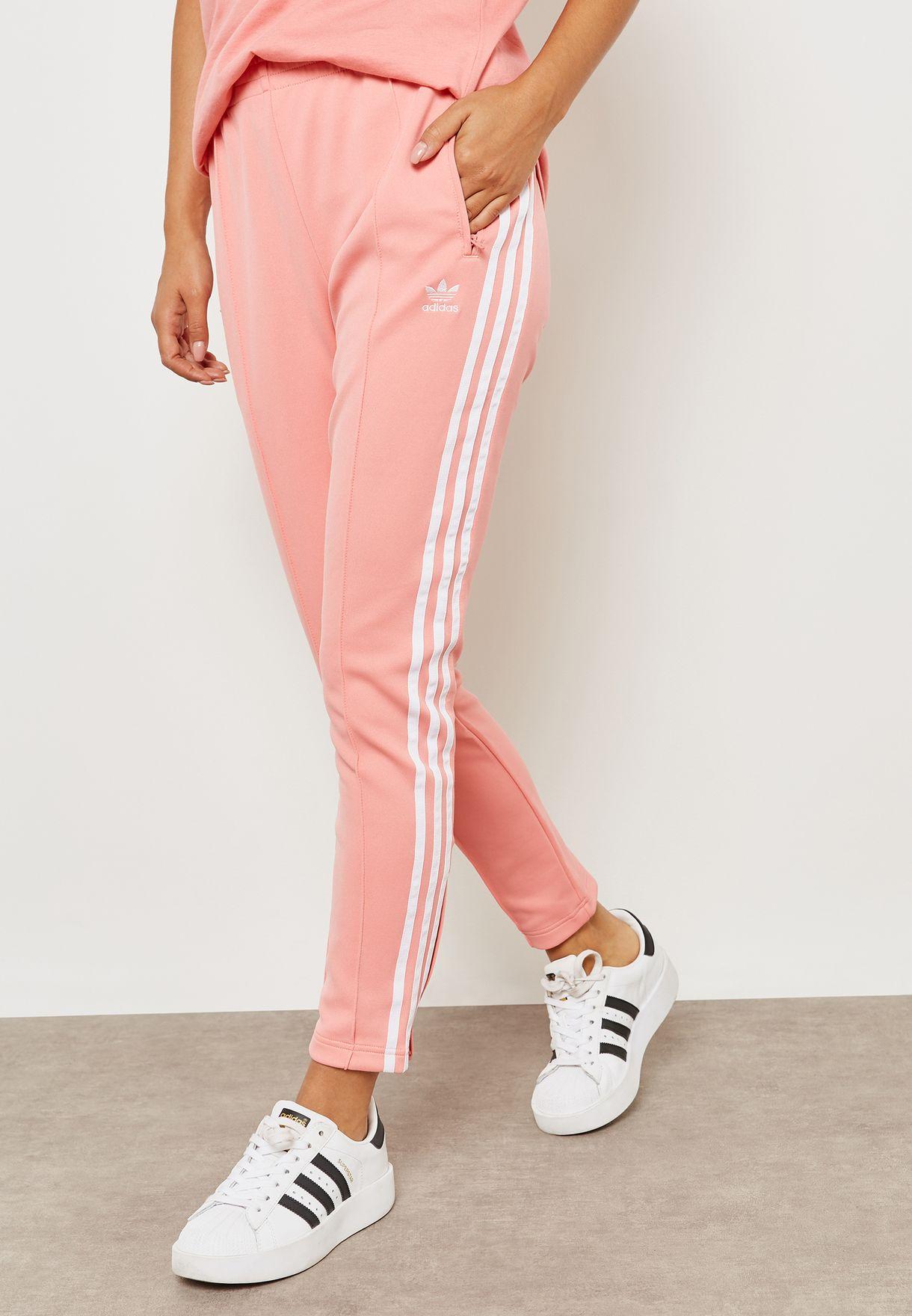 Shop adidas Originals pink adicolor Superstar Sweatpants DH3179 for ... f6a691c3ea