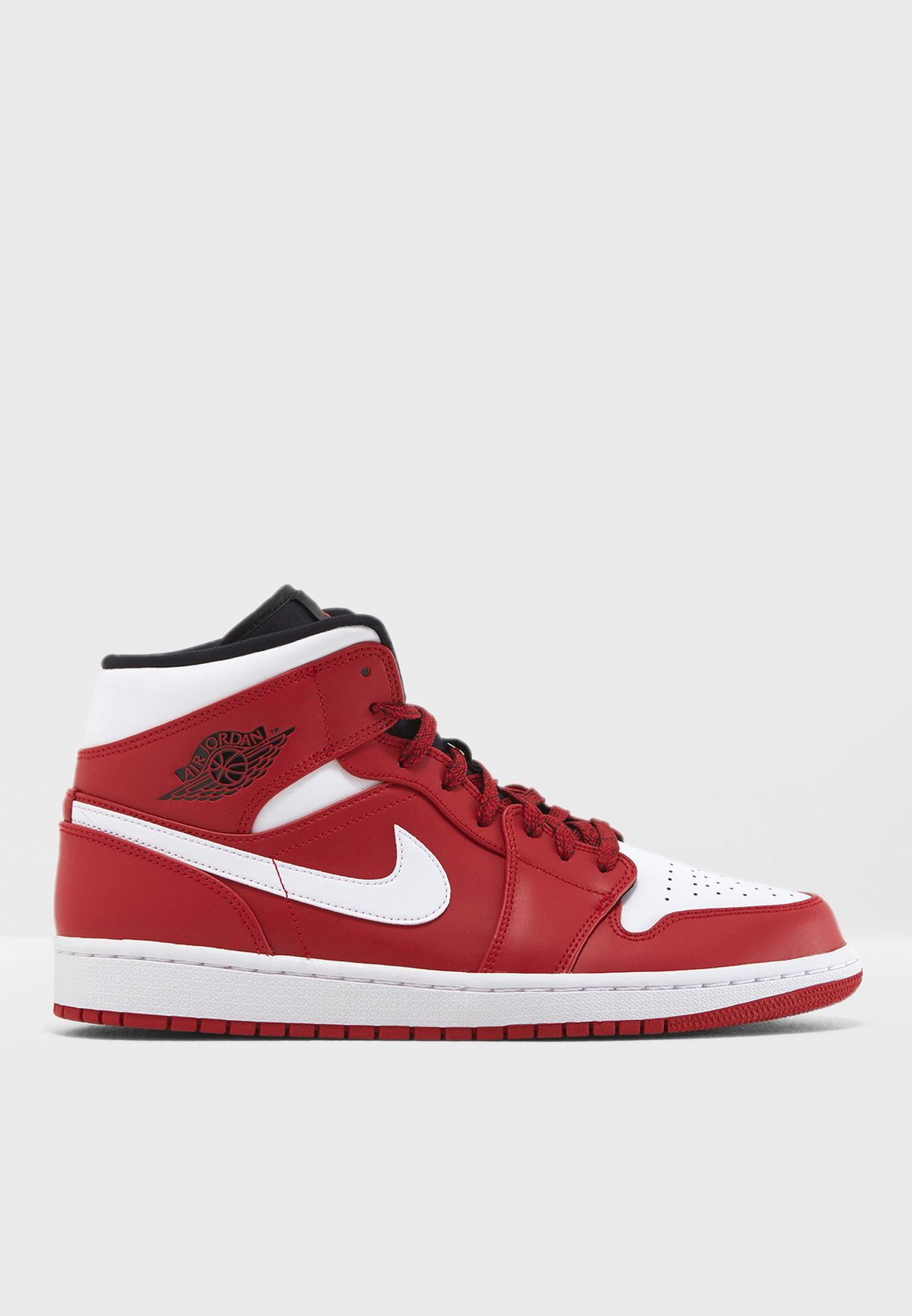 1a0daca640ca22 Shop Nike red Air Jordan 1 Mid 554724-605 for Men in Kuwait ...
