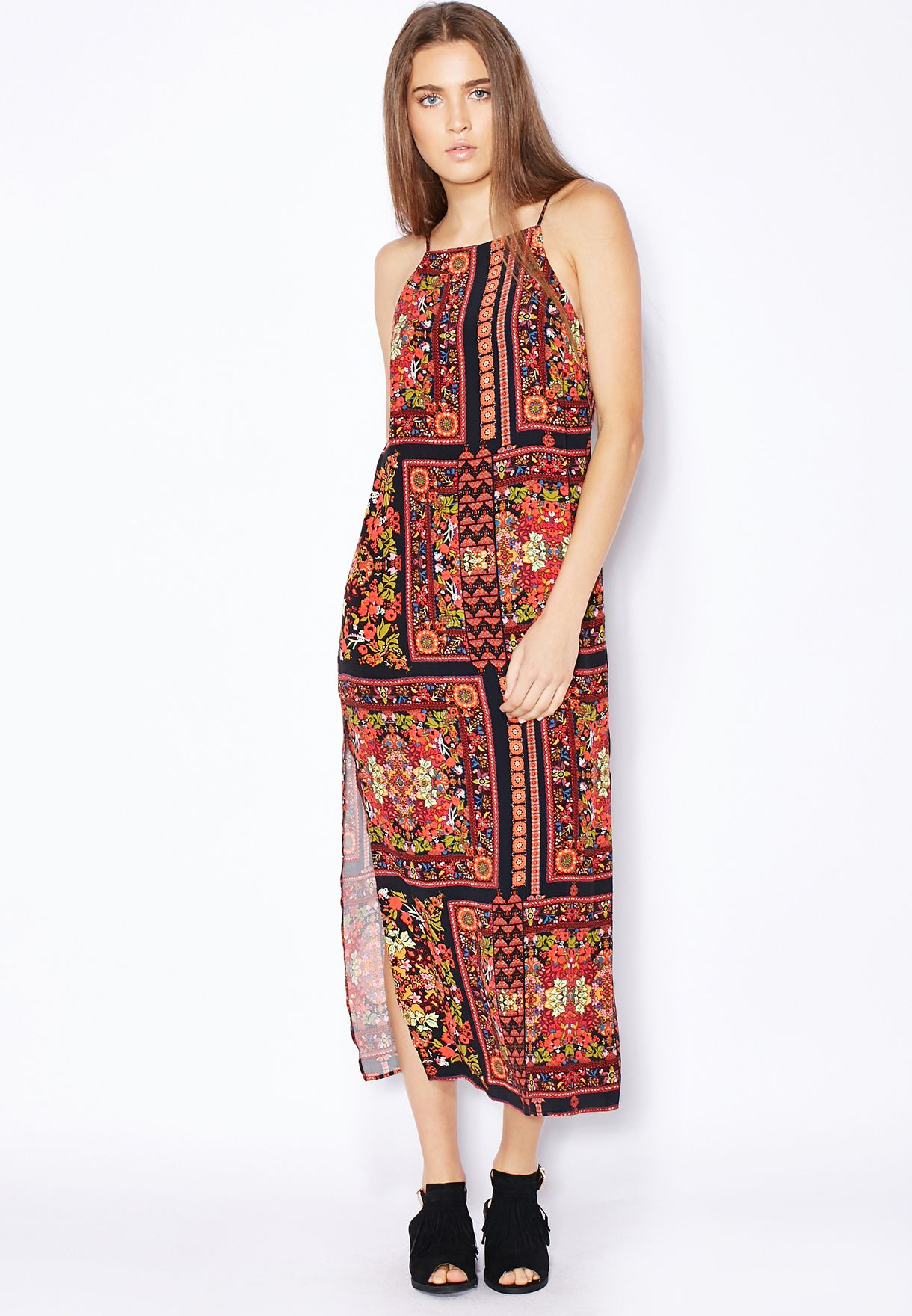 3b033ef3e1 Shop Topshop prints Scarf Print Maxi Dress for Women in UAE ...