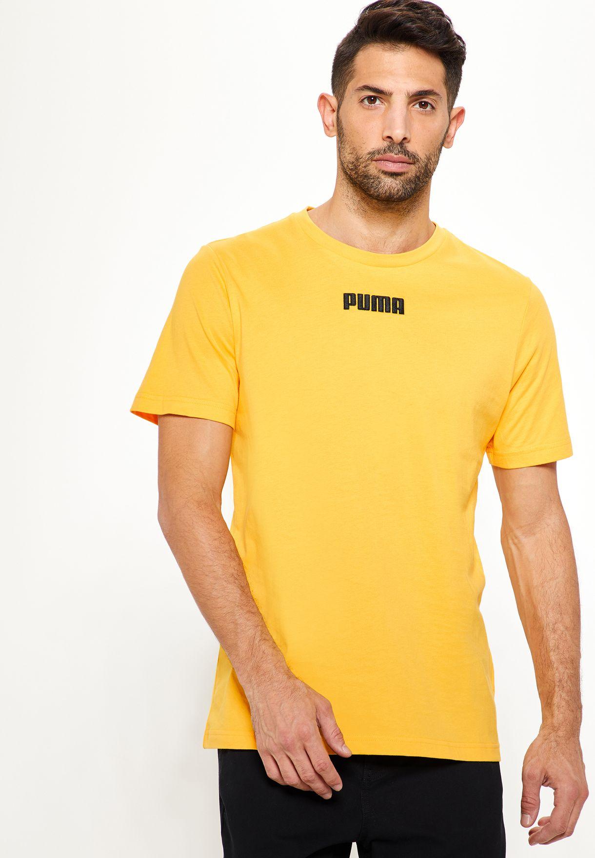 27fe6357e73 Shop PUMA yellow Big Sean T-Shirt 57702344 for Men in UAE - PU020AT57BCO