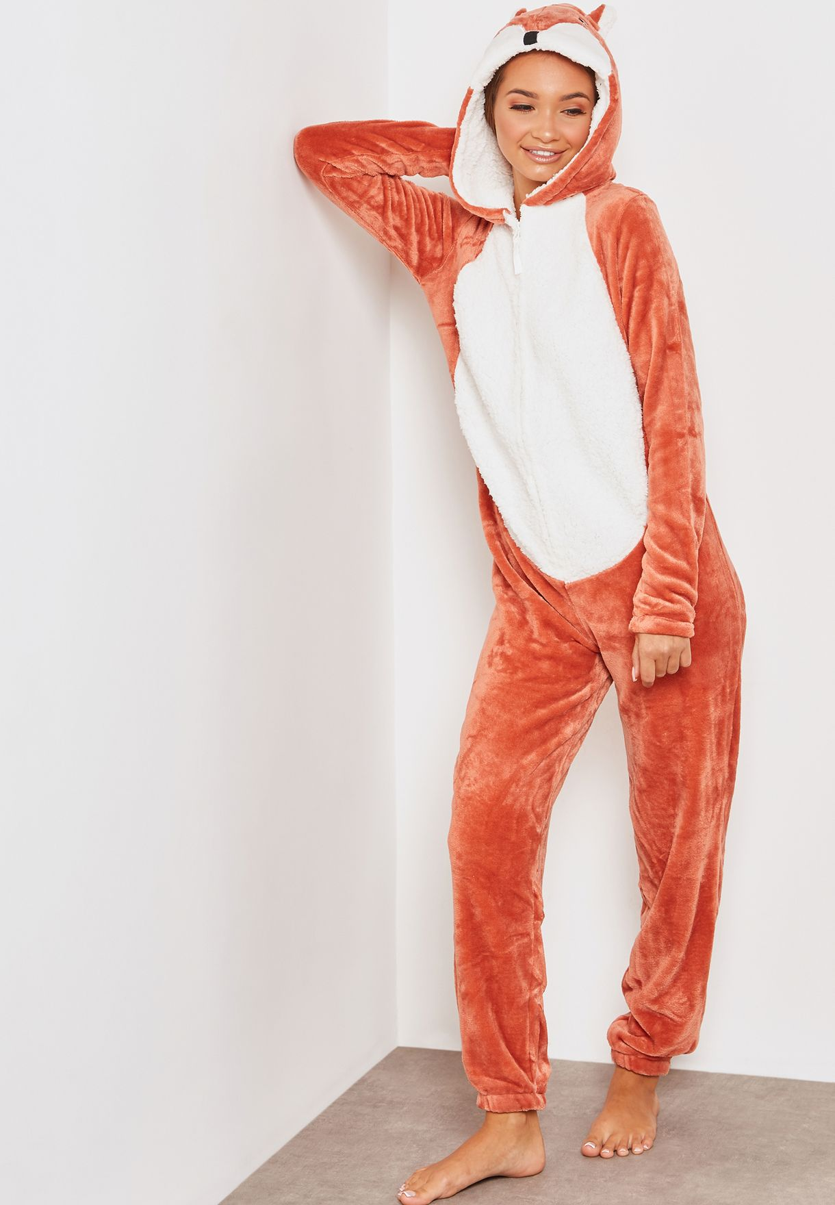 00fcf9876b4e Shop Loungeable browns Fox Onesie 798039 for Women in UAE - LO739AT57YZU