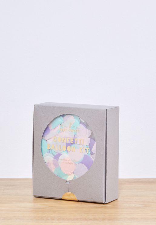8 Pastel Confetti Ballon Kit