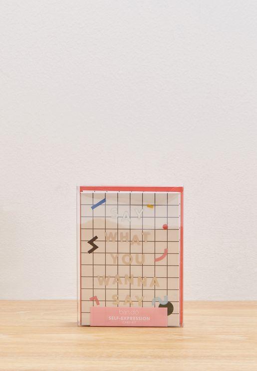 Mini Grid Self Expression Card Kit