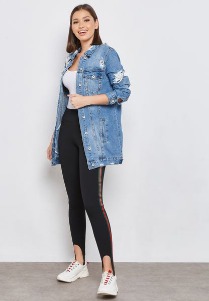 Side Paneled Stirrup Jeggings