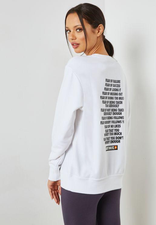 Just Do It Fleece Sweatshirt