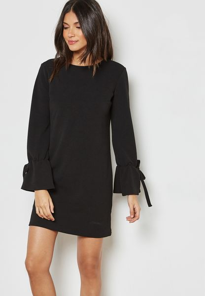 Tie Sleeve Shift Dress