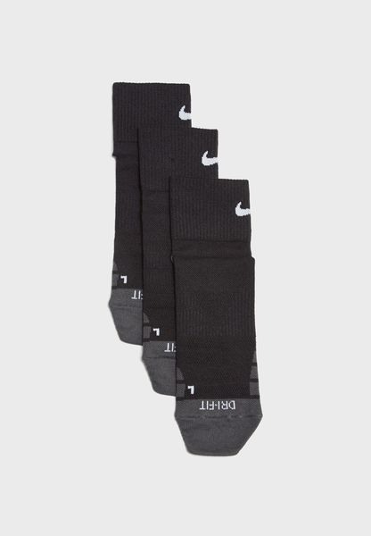 3 Pack Dri-FIT Quarter Socks