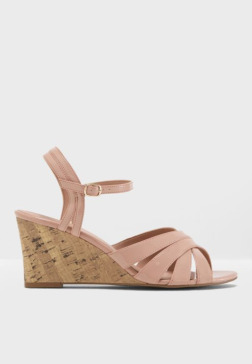 Poofy Wedge Sandal