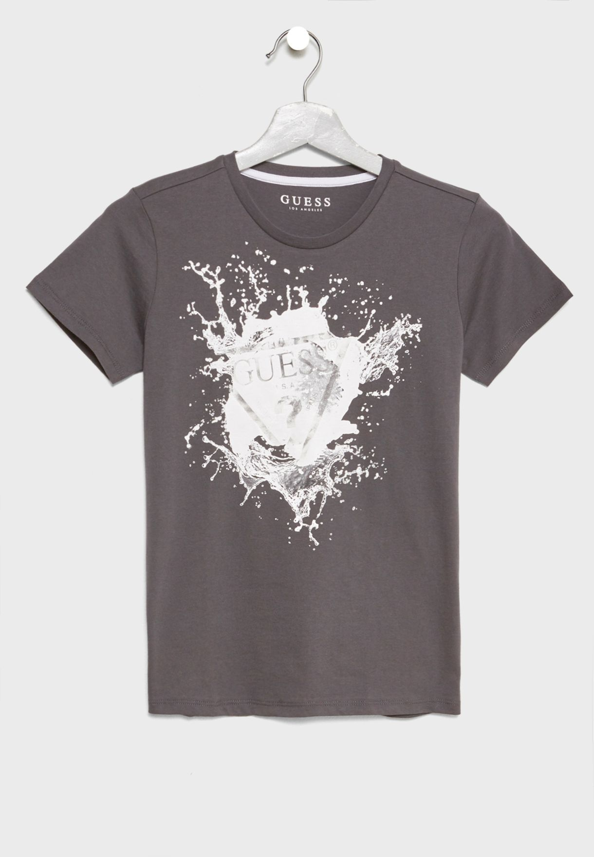 265d65c97 Shop Guess grey Little Graphic T-Shirt L82I00K6X80 for Kids in UAE ...