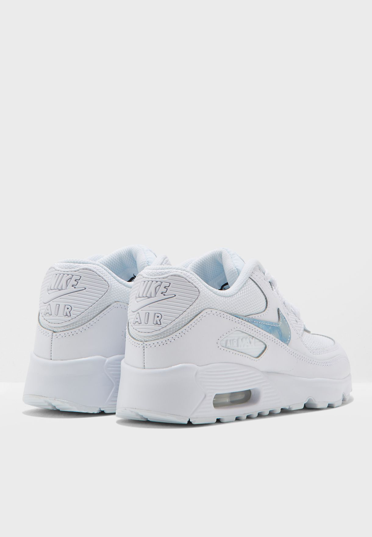 f28382230d Shop Nike white Air Max 90 Mesh Youth 833418-111 for Kids in UAE ...