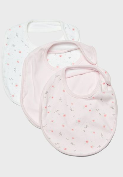 Infant 3 Pack Bibs Set